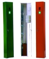 VOSS-PSA-Erste Hilfe, Krankentragen-Schrank, groß, leer, orange