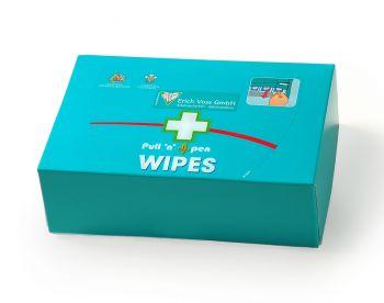 VOSS-PSA-Erste Hilfe, Nachfüll FOX Spender Wund-Reinigungstücher