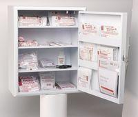 VOSS-PSA-Erste Hilfe, Main Metall-Schrank mit Fächern in der Tür, weiß
