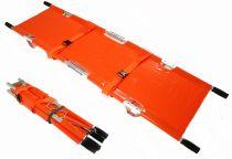 VOSS-PSA-Erste Hilfe, Krankentrage in Tasche, 2mal klappbar, orange