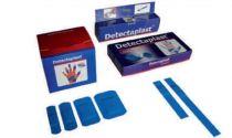 VOSS-PSA-Erste Hilfe, Pflaster-Strips detektabel, textil-elastisch, 2,5 x 7,2 cm, blau