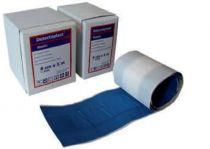 VOSS-PSA-Erste Hilfe, Wund-Schnell-Verband, detektabel, textil-elastisch, 5 m x 6 cm, blau