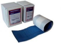VOSS-PSA-Erste Hilfe, Wund-Schnell-Verband, detektabel, textil-elastisch, 5 m x 8 cm, blau