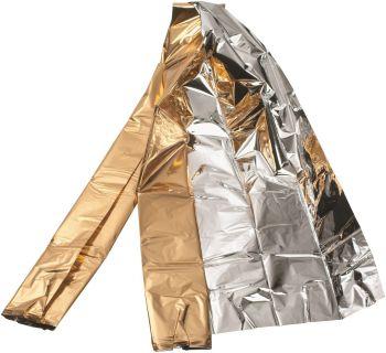 VOSS-Hygiene, Rettungsdecke, silber/gold, 210 cm x 160 cm