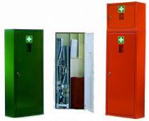 VOSS-PSA-Erste Hilfe, Krankentragen-Schrank leer, klein, orange
