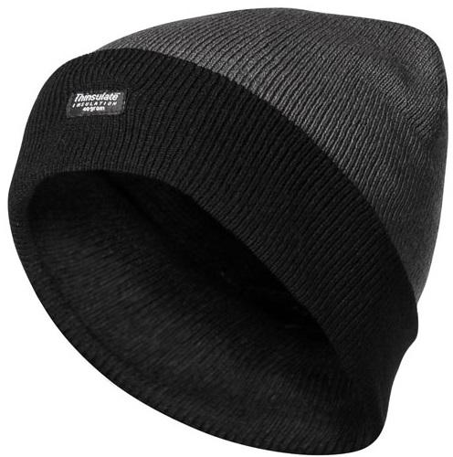 FELDTMANN PSA-Kopfschutz, Thinsulate-Winter-Mütze, JULIAN, grau/schwarz