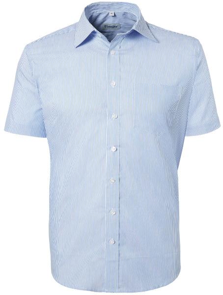 PIONIER-Hemd, Business Fashion, 1/2 gestreift, marine/weiß