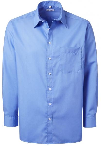 PIONIER-Herrenhemd, Kent-Kragen, 1/1 Arm, BUSINESS FASHION, königsblau
