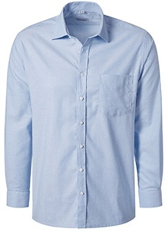PIONIER-Herrenhemd, Oxford, Kent-Kragen, 1/1 Arm, BUSINESS FASHION, hellblau