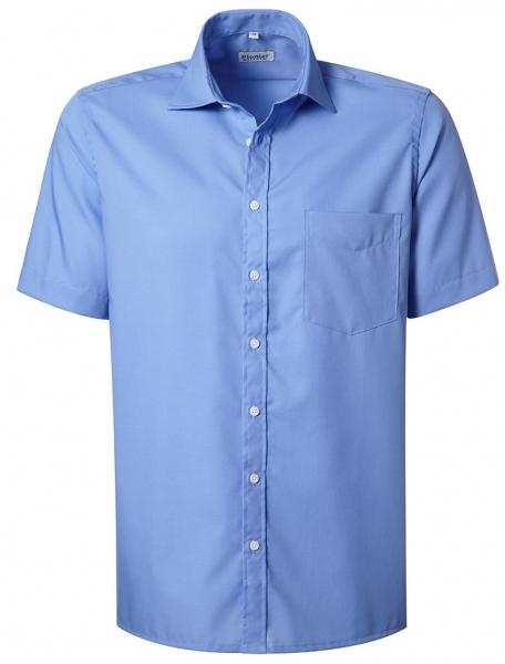 PIONIER-Herrenhemd, Kent-Kragen, 1/2 Arm, BUSINESS FASHION, königsblau