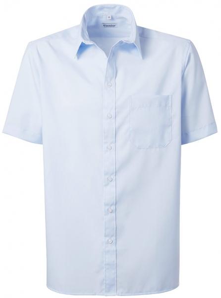PIONIER-Herrenhemd, Kent-Kragen, 1/2 Arm, BUSINESS FASHION, hellblau