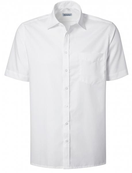 PIONIER-Herrenhemd, Kent-Kragen, 1/2 Arm, BUSINESS FASHION, weiss