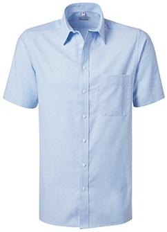 PIONIER-Herrenhemd, Oxford, Kent-Kragen, 1/2 Arm, BUSINESS FASHION, hellblau