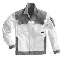 PIONIER Maler-Arbeits-Berufs-Bund-Jacke, MG 300, weiß/grau