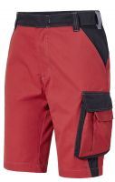 PIONIER-Bermuda, Arbeits-Berufs-Shorts, ca. 245g/m², schwarz/rot