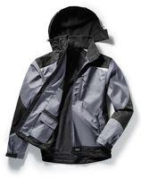 PIONIER-Softshell-Arbeits-Berufs-Jacke, OUTDOOR, grau/schwarz