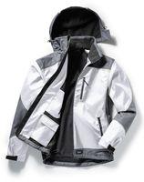 PIONIER-Softshell-Arbeits-Berufs-Jacke, OUTDOOR, weiß/grau