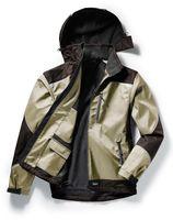 PIONIER-Softshell-Arbeits-Berufs-Jacke, OUTDOOR, beige/braun
