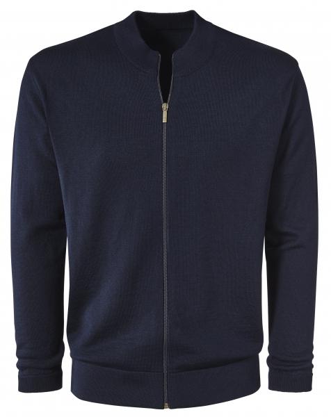 PIONIER-Arbeits-Berufs-Strick-Jacke, schwarzblau