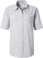 PIONIER-Workwear-Damen-Arbeits-Berufs-Bluse, 1/2 Arm, BUSINESS, grau/weiß feingestreift