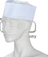 care&serve-Einweg-Einmal-Schiffchen, Papier, Schweißband, Spenderbox, Pkg á 100 Stück, VE: 1000 Stück, weiß