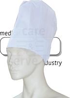 care&serve-Einweg-Koch-Einmal-Mütze, Papier, Block Dekorfalten, Schweißband, Polybeutel, Pkg á 10 Stück, VE: 250 Stück, weiß