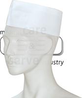 care&serve-Einweg-Einmal-Schiffchen, Krepp Papier, Polybeutel, Pkg á 25 Stück, VE: 500 Stück, weiß