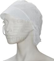 care&serve-Einweg Vlies Schirm-Einmal-Mütze, Haarnetz, Polybeutel, Pkg á 100 Stück, VE: 1000 Stück, weiß