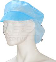 care&serve-Einweg Vlies Schirm-Einmal-Mütze, Haarnetz, Polybeutel, Pkg á 100 Stück, VE: 1000 Stück, blau