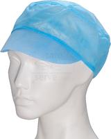 care&serve-Einweg Vlies Schirm-Einmal-Mütze, Gummizug im Nacken, Polybeutel, Pkg á 100 Stück, VE: 1000 Stück, blau
