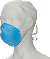 care&serve-Einweg Staubschutz-Einmal-Maske, Schalenform, gegen Grogstaub, Spenderbox, Pkg á 50 Stück, VE: 2000 Stück, blau