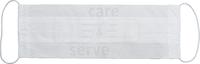 care&serve-Einweg-Papier-Einmal-Mundschutz, 1 lagig, Gummischlaufen, Spenderbox, Pkg á 100 Stück, VE: 10000 Stück, weiß