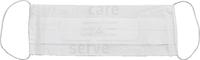 care&serve-Einweg-Papier-Einmal-Mundschutz, 2 lagig, Gummischlaufen, Spenderbox, Pkg á 100 Stück, VE: 10000 Stück, weiß