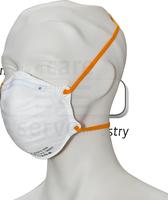 PSA-Atem-Schutz, Einweg-Fein-Staub-Filter-Maske, FFP 1, Schalenform, Pkg á 20 Stück, VE: 400 Stück, weiß