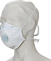 care&serve-Einweg-Atemschutz-Einmal-Maske, FFP 2, Schalenform, Pkg á 20 Stück, VE: 400 Stück, weiß