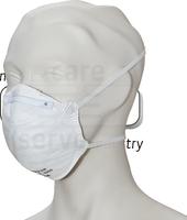 care&serve-Einweg-Atemschutz-Einmal-Maske, FFP 2, Schalenform, mit Ventil, Pkg á 20 Stück, VE: 400 Stück, weiß