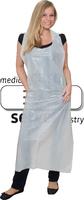 WIROS-Einweg-PE-Schürzen, Einmalschürzen, 0,018 mm, geblockt, glatt, 75 x 125 cm, Pkg á 50 Stück, VE = 1000 Stück, weiß