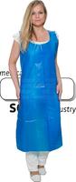 WIROS-Einweg-PE-Schürzen, Einmalschürzen, 0,05 mm, geblockt, glatt, extra stark, 80 x 140 cm, Pkg á 25 Stück, VE = 250 Stück, blau