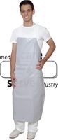 care&serve Latzschürze, Gummischürze-PU Beschichtung, gestreift, kochfest bis 90°C, Polybeutel, 75 x 1