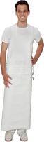 care&serve-Einweg-PU Einmal-Latzschürze, 0,30 mm, Bänder an Taille, justierbarer Klickverschluss am Nackenband, Polybeutel, 90 x 110 cm, VE: 20 St