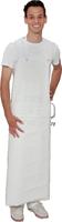 care&serve-Einweg-PU Einmal-Latzschürze, 0,30 mm, Metallösen, justierbarer Klickverschluss in Nacken & Taille, Polybeutel, 90 x 130 cm, VE: 20 Stü