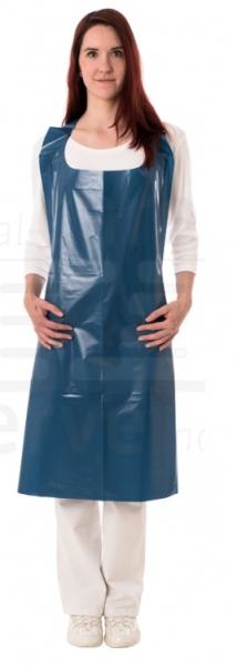 WIROS-Einweg-PE Schürzen, 0,06 mm, geblockt, glatt, detektierbar, Polybeutel, 75 x 125 cm, Pkg á 50 Stück, VE: 500 Stück, dunkelblau