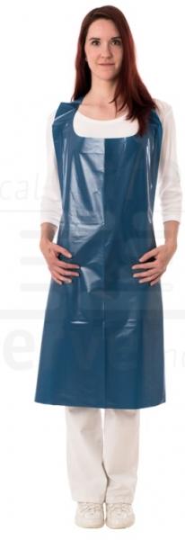WIROS-Einweg-PE Schürzen, 0,06 mm, geblockt, glatt, detektierbar, Polybeutel, 75 x 140 cm, Pkg á 50 Stück, VE: 500 Stück, dunkelblau