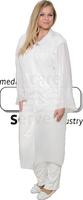care&serve-Einweg-PE-Kittel, Einmal-Mantel, Kragen, glatt, Polybeutel, 150 x 120 cm, VE: 500 Stück, weiß