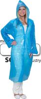 care&serve-Einweg-PE-Kittel,  Einmal-Mantel, Kapuze, glatt, Polybeutel, 150 x 120 cm, VE: 500 Stück, blau