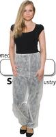 care&serve-Einweg-Vlies-Einmal-Hose, lang, ohne Taschen, Gummizugbündchen in Taille & Beinenden, 30 g/m², 136 x 119 cm, Polybeut