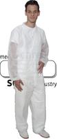 care&serve-Einweg-Vlies Einmal-Jacke, kurz, Bänder im Nacken, Reißverschluss, Innentasche, 30 g/m², Polybeutel, 145 x 85 cm, VE: