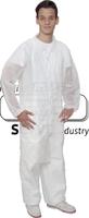 care&serve-Einweg-Bekleidung, Einmal-Vlies Jacke, lang, Bänder im Nacken, Reißverschluss, 30 g/m², Polybeutel, 150 x 120 cm, VE:
