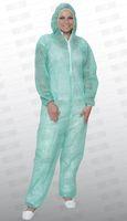 care&serve-Einweg-Vlies-Overall, Einmal-Schutz-Anzug, Kapuze, Reißverschluss mit Abdeckung, Gummizüge, Polybeutel, 32 g/m², 150 x