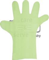 WIROS-Hand-Schutz, Einweg-PE Untersuchungs-Einmal-Handschuhe, glatt, extra lang, extra stark, 0,03 mm, 37 cm, Pkg á 100 Stück, VE = 1 Pkg, grün